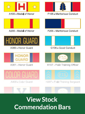 View Stock Commendation Bars
